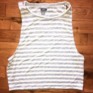 Aerie Crop Soft & Sexy Striped Tank